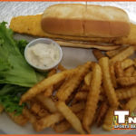Payton's Fish Sandwich with French Fries and Tartar Sauce