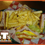 Club Sandwich with French Fries at TNT