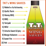 TNT's Wing Sauces - 10 Different Delicious Sauces To Choose From!